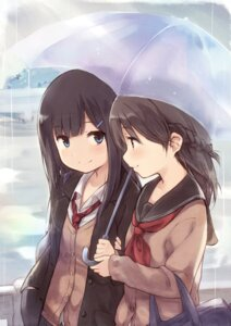 Rating: Safe Score: 45 Tags: kyuri seifuku yuri User: Romio88