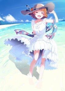 Rating: Safe Score: 29 Tags: dress natsumi_akira nonohara_akane summer_dress the_idolm@ster the_idolm@ster_million_live! wet User: RyuZU