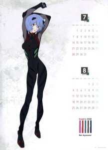 Rating: Safe Score: 12 Tags: ayanami_rei bodysuit calendar honda_takeshi neon_genesis_evangelion User: drop