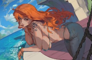 Rating: Questionable Score: 2 Tags: bikini nami one_piece robutts swimsuits tattoo thong User: BattlequeenYume