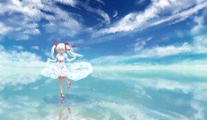Rating: Safe Score: 20 Tags: dress hatsune_miku jaco landscape skirt_lift vocaloid User: Mr_GT