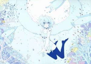 Rating: Safe Score: 18 Tags: ayanami_rei megane neon_genesis_evangelion shibata_yuka swimsuits thighhighs User: drop