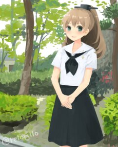 Rating: Safe Score: 10 Tags: kantai_collection kumano_(kancolle) retoriro seifuku User: blooregardo