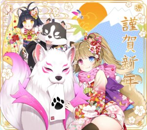 Rating: Safe Score: 26 Tags: animal_ears byulzzi_mon elin heterochromia kimono tail tera_online thighhighs User: Mr_GT