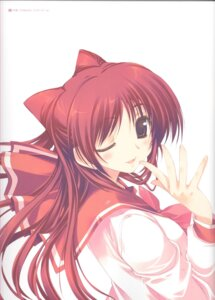 Rating: Safe Score: 12 Tags: amaduyu_tatsuki binding_discoloration kousaka_tamaki seifuku to_heart_2 to_heart_(series) User: Riven
