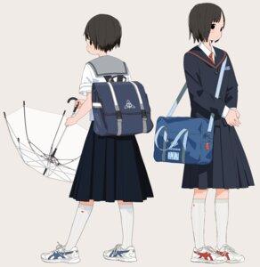 Rating: Safe Score: 13 Tags: kumanoi_(nichols) seifuku umbrella User: Radioactive