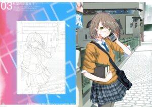 Rating: Safe Score: 33 Tags: fuyuno_haruaki megane seifuku sketch techno_fuyuno User: midzki