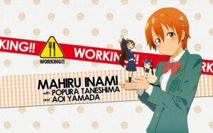 Rating: Safe Score: 7 Tags: adachi_shingo inami_mahiru seifuku taneshima_poplar thighhighs wallpaper working!! yamada_aoi User: tack