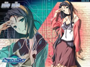 Rating: Safe Score: 11 Tags: baldr_sky cleavage giga kikuchi_seiji nishino_aki wallpaper User: abdd