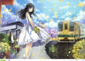 Rating: Safe Score: 90 Tags: dress fixed hagiwara_rin landscape summer_dress User: fireattack