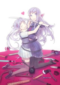 Rating: Safe Score: 12 Tags: mckeee pantyhose seifuku sword thighhighs User: Radioactive