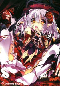 Rating: Questionable Score: 58 Tags: blood devil feet horns shirokitsune tail thighhighs User: Twinsenzw