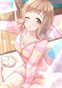 Rating: Safe Score: 16 Tags: cleavage pajama sakuragi_mano sheets tamakaga the_idolm@ster the_idolm@ster_shiny_colors User: hiroimo2