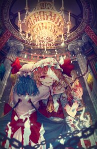 Rating: Safe Score: 15 Tags: blood daikazoku63 dress flandre_scarlet remilia_scarlet touhou wings User: charunetra