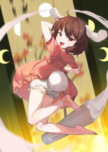 Rating: Safe Score: 10 Tags: animal_ears bloomers bunny_ears dress feet inaba_tewi skirt_lift tail touhou useq1067 weapon User: Mr_GT