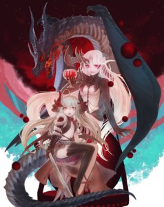 Rating: Questionable Score: 29 Tags: horns loli monster no_bra pixiv_fantasia pointy_ears quaanqin sword User: Mr_GT