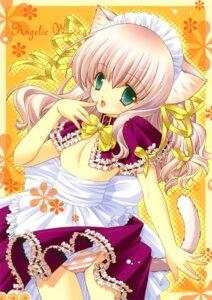 Rating: Questionable Score: 30 Tags: animal_ears maid nekomimi no_bra pantsu shigunyan shimapan tail User: midzki