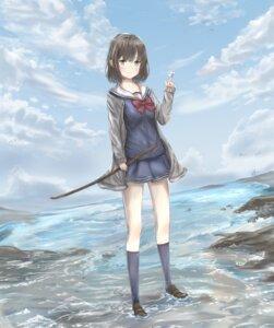 Rating: Safe Score: 5 Tags: seifuku sweater sword tagme wet User: saemonnokami
