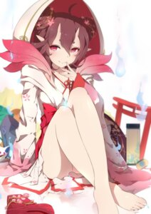 Rating: Safe Score: 94 Tags: feet horns kimono onmyouji pointy_ears tao_hua_yao xiao_ren User: Mr_GT