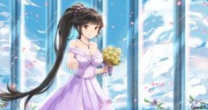 Rating: Safe Score: 49 Tags: azur_lane cleavage dress snow_(artist) takao_(azur_lane) wedding_dress User: Mr_GT