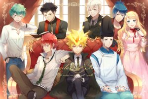 Rating: Safe Score: 18 Tags: alaude asari_ugetsu bandaid business_suit daemon_spade dress ekita_gen elena_(reborn) g_(reborn) giotto japanese_clothes katekyo_hitman_reborn! knuckle lampo tattoo uniform User: charunetra