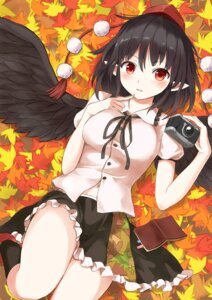 Rating: Safe Score: 34 Tags: pointy_ears shameimaru_aya techi_(techi35499) touhou wings User: Mr_GT
