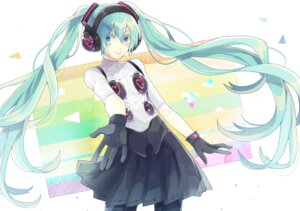Rating: Safe Score: 25 Tags: dress hatsune_miku headphones junjam pantyhose vocaloid User: charunetra