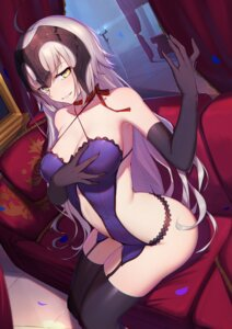 Rating: Safe Score: 107 Tags: breast_grab cleavage fate/grand_order jeanne_d'arc jeanne_d'arc_(alter)_(fate) langya_beike stockings thighhighs User: Mr_GT