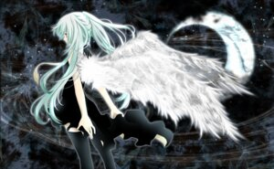 Rating: Safe Score: 28 Tags: aonoe dress hatsune_miku thighhighs vocaloid wings User: charunetra