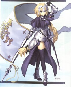 Rating: Explicit Score: 17 Tags: armor fate/grand_order heels jeanne_d'arc jeanne_d'arc_(fate) sword takeuchi_takashi thighhighs User: Saturn_V