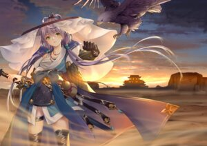 Rating: Safe Score: 27 Tags: armor catcan garter japanese_clothes luo_tianyi sarashi sword thighhighs vocaloid User: BattlequeenYume