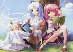 Rating: Safe Score: 5 Tags: crease dress fixme pantsu sorairo_no_organ thighhighs ueda_ryou User: Davison