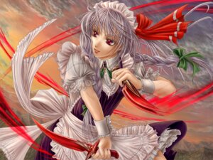 Rating: Safe Score: 6 Tags: izayoi_sakuya maid touhou wallpaper yuki_shuuka User: konstargirl