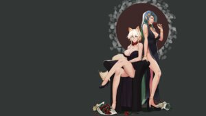 Rating: Safe Score: 25 Tags: animal_ears dress heels less tail wallpaper User: Mr_GT