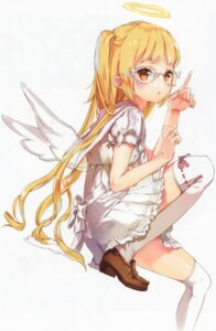 Rating: Safe Score: 92 Tags: angel anmi dress megane stockings thighhighs wings User: yong