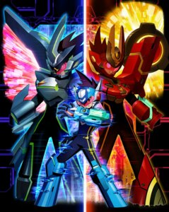 Rating: Safe Score: 10 Tags: armor black_ace bodysuit capcom gun horns hoshikawa_subaru_(rockman) male red_joker rockman ryuusei_no_rockman ryuusei_no_rockman_3 User: Radioactive