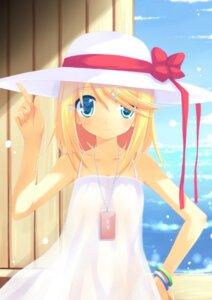 Rating: Safe Score: 34 Tags: dress huohai kagamine_rin summer_dress vocaloid User: fireattack