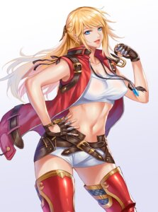 Rating: Questionable Score: 28 Tags: armor erect_nipples final_fantasy final_fantasy_xiv lyse_hext no_bra pengnangehao thighhighs User: mash