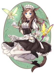Rating: Safe Score: 50 Tags: animal_ears fairy final_fantasy final_fantasy_xiv heels maid miqo'te nekomimi pointy_ears riffey tail thighhighs wings User: Mr_GT