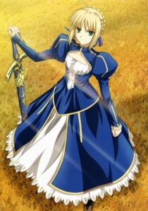 Rating: Safe Score: 25 Tags: dress fate/stay_night ishihara_megumi saber sword User: Radioactive
