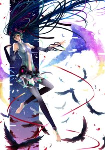 Rating: Safe Score: 10 Tags: hatsune_miku miku_append nonrain thighhighs vocaloid vocaloid_append User: charunetra
