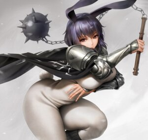 Rating: Safe Score: 43 Tags: animal_ears armor bodysuit breast_hold bunny_ears obaoba_(monkeyix) tail weapon User: Mr_GT