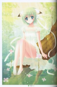 Rating: Safe Score: 14 Tags: animal_ears binding_discoloration dress greenwood midori nekomimi nishiwaki_yuuri User: cheese