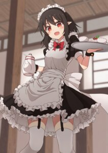 Rating: Safe Score: 43 Tags: maid pointy_ears shameimaru_aya stockings taki_sandstone thighhighs touhou User: Mr_GT