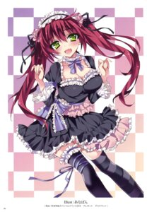 Rating: Safe Score: 53 Tags: anapom cleavage dress garter gothic_lolita lolita_fashion thighhighs User: Twinsenzw
