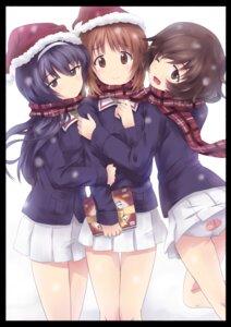 Rating: Safe Score: 31 Tags: akiyama_yukari christmas girls_und_panzer nishizumi_miho oto_taku pantsu reizei_mako seifuku User: Radioactive