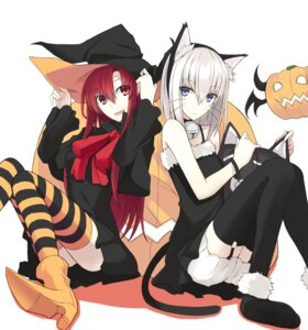 Rating: Safe Score: 59 Tags: animal_ears dress halloween heels kauto kushia_microphylla nekomimi stockings tail thighhighs witch User: Schezza