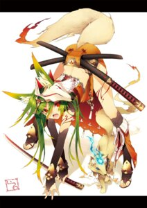 Rating: Safe Score: 56 Tags: animal_ears katou_itsuwa sword tail User: hobbito