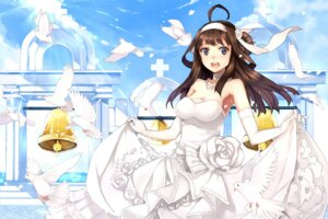 Rating: Safe Score: 49 Tags: dress hao_(patinnko) kantai_collection kongou_(kancolle) wedding_dress User: Mr_GT