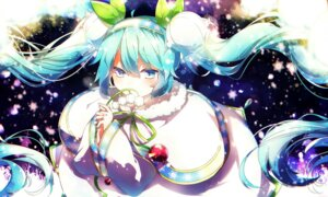 Rating: Questionable Score: 40 Tags: aka_tonbo_(lililil) hatsune_miku vocaloid yuki_miku User: 麻里子